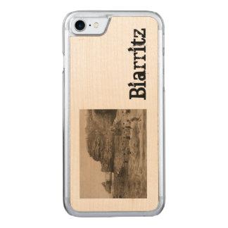 Coque En Bois iPhone 7 BIARRITZ - Rocher de la Virge et Bains du port