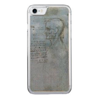 Coque En Bois iPhone 7 Carnet humain de l'anatomie de da Vinci