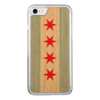 Coque En Bois iPhone 7 Drapeau de Chicago