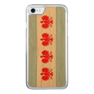 Coque En Bois iPhone 7 Drapeau polonais de Chicago