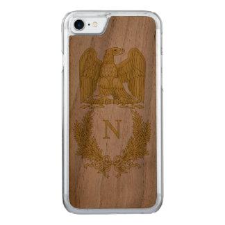Coque En Bois iPhone 7 Emblème de Napoleon Bonaparte