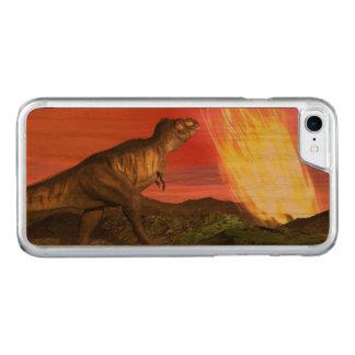 Coque En Bois iPhone 7 Extinction des dinosaures - 3D rendent
