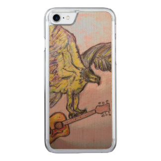 Coque En Bois iPhone 7 Faucon de poissons acoustique