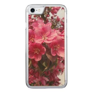 Coque En Bois iPhone 7 Fleurs de pomme sauvage