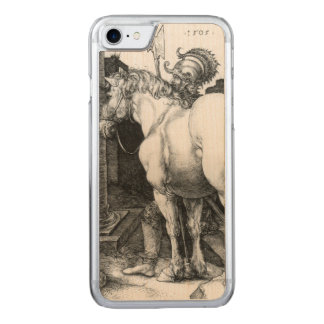 Coque En Bois iPhone 7 Grand cheval, gravant par Albrecht Durer