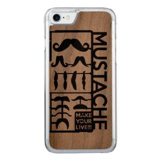 Coque En Bois iPhone 7 La moustache choisissent seulement un par jour
