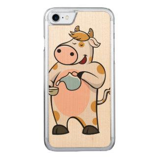 Coque En Bois iPhone 7 lait boisson de vache