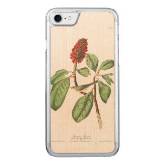Coque En Bois iPhone 7 Le FLYCATCHER de Bonaparte du plat 5 d'Audubon