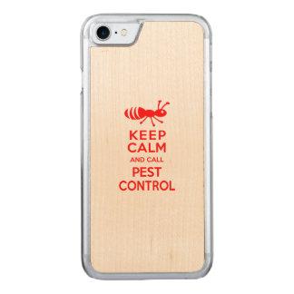 Coque En Bois iPhone 7 Maintenez calme et appelez la lutte contre les