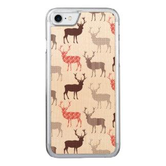 Coque En Bois iPhone 7 Motif rouge de Noël de mâle