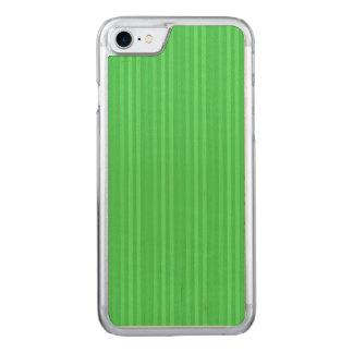 Coque En Bois iPhone 7 Motif vert clair de rayures verticales