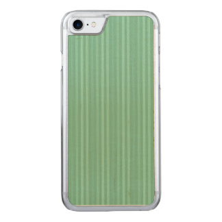 Coque En Bois iPhone 7 Motif vert en bon état de rayures verticales