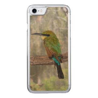 Coque En Bois iPhone 7 Oiseau d'abeille-mangeur d'arc-en-ciel, Australie