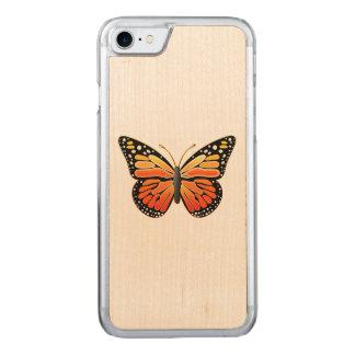Coque En Bois iPhone 7 Papillon de monarque