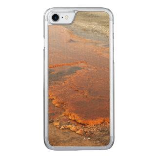 Coque En Bois iPhone 7 Parc rouge de Yellowstone de l'eau minérale