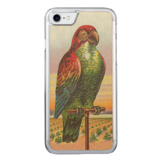 Coque En Bois iPhone 7 Perroquet