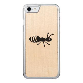 Coque En Bois iPhone 7 Petit insecte drôle - plaisanterie de lutte contre