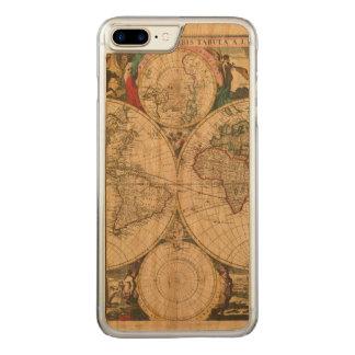 Coque En Bois iPhone 7 Plus Carte 1685 de Bormeester du monde