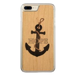 Coque En Bois iPhone 7 Plus Cas de téléphone portable d'espoir