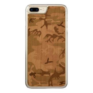 Coque En Bois iPhone 7 Plus Désert Camo - camouflage de Brown