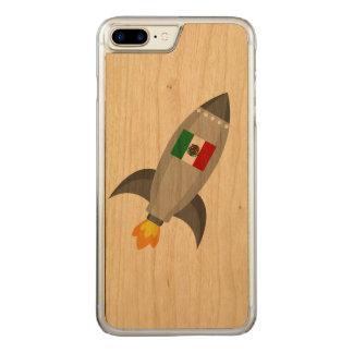 Coque En Bois iPhone 7 Plus Drapeau Rocket du Mexique