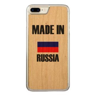 Coque En Bois iPhone 7 Plus Fait dans le drapeau de la Russie