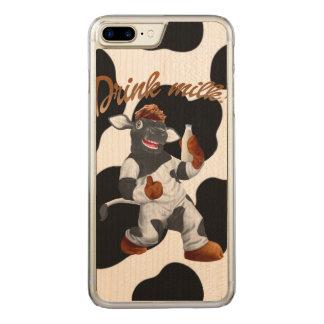 Coque En Bois iPhone 7 Plus Faites la vache à lait de boissons de vaches avec