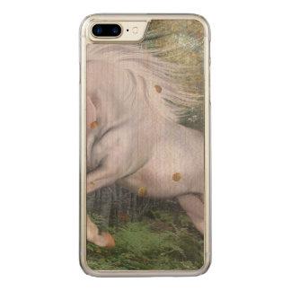 Coque En Bois iPhone 7 Plus La magie en bois de forêt de licorne tient le
