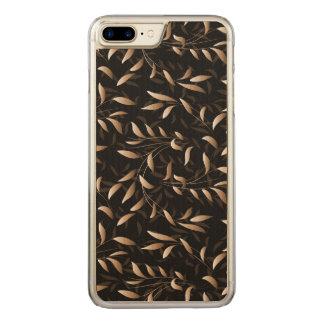 Coque En Bois iPhone 7 Plus Motif de feuille de saule d'art déco