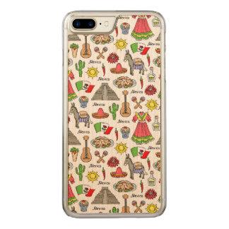 Coque En Bois iPhone 7 Plus Motif de symboles du Mexique |