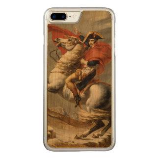 Coque En Bois iPhone 7 Plus Napoléon croisant les Alpes par Jacques Louis