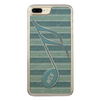 Coque En Bois iPhone 7 Plus Note et rayures de musique de monogramme aux