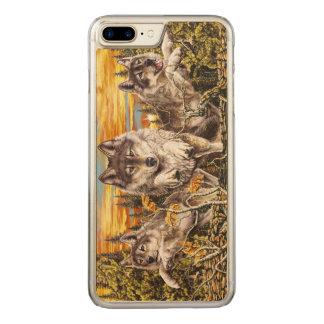 Coque En Bois iPhone 7 Plus Paquet de fonctionnement de loups