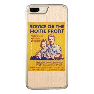 Coque En Bois iPhone 7 Plus Service vintage sur l'affiche de WPA de front