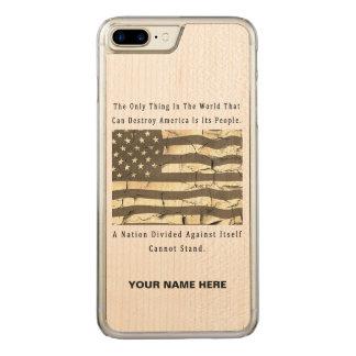 Coque En Bois iPhone 7 Plus Une nation divisée