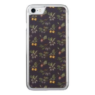 Coque En Bois iPhone 7 Poires vintages et prunes