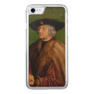 Coque En Bois iPhone 7 Portrait de Maximilian I par Albrecht Durer