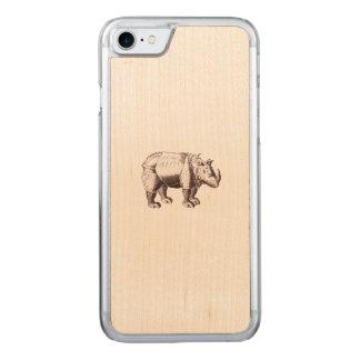 Coque En Bois iPhone 7 Rhinocéros d'imaginaire après Albrecht Durer