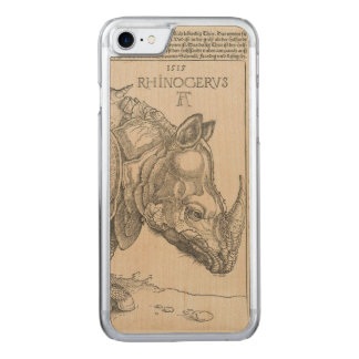 Coque En Bois iPhone 7 Rhinocéros par Albrecht Durer
