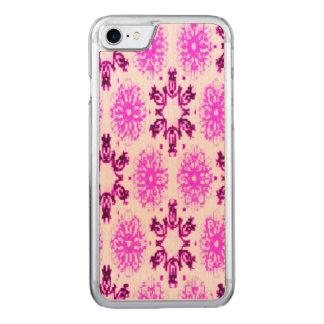 Coque En Bois iPhone 7 Rose floral de prune confite de rétro flocon de