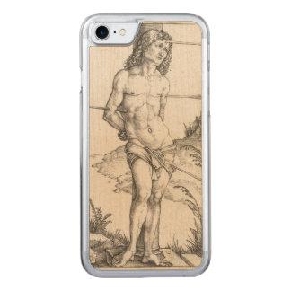 Coque En Bois iPhone 7 Saint SebastiAn attaché à une colonne par Albrecht