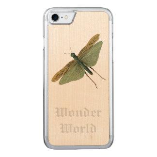 """Coque En Bois iPhone 7 Sauterelle """"du monde de merveille"""" -"""