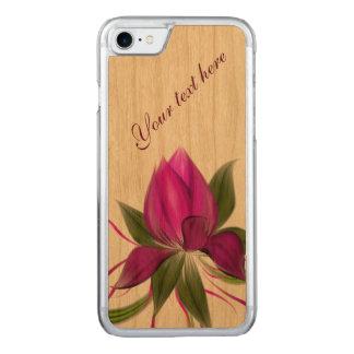 Coque En Bois iPhone 7 Vecteur floral