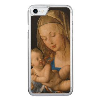 Coque En Bois iPhone 7 Vierge et enfant avec la poire par Albrecht Durer