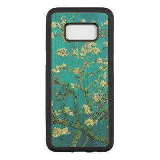 Coque En Bois Samsung Galaxy S8 Art floral se développant d'arbre d'amande de