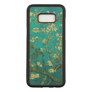Coque En Bois Samsung Galaxy S8 Plus Art floral se développant d'arbre d'amande de