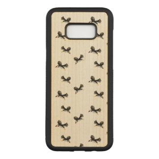 Coque En Bois Samsung Galaxy S8 Plus Oiseaux pilotant le motif de macareux