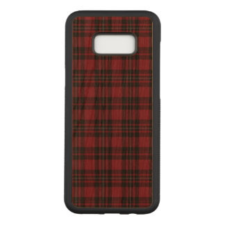 Coque En Bois Samsung Galaxy S8 Plus Tartan rouge Phonecase
