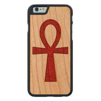 Coque En Cerisier iPhone 6 Case Ankh rouge