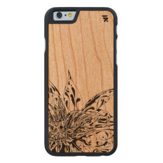 Coque En Cerisier iPhone 6 Case Conception florale simple sur le dos en bois